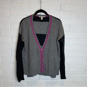 Autumn cashmere grey pink cardigan XS
